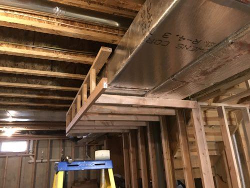 Foyer Ceiling Joist : Framing soffiting scf architecture